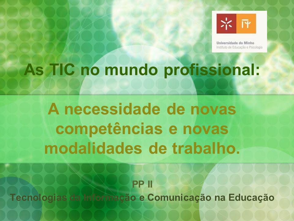 PP II Tecnologias da Informação e Comunicação na Educação