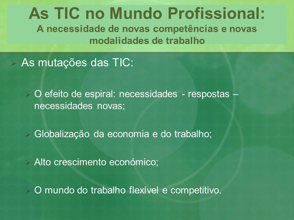 As TIC no Mundo Profissional: A necessidade de novas competências e novas modalidades de trabalho