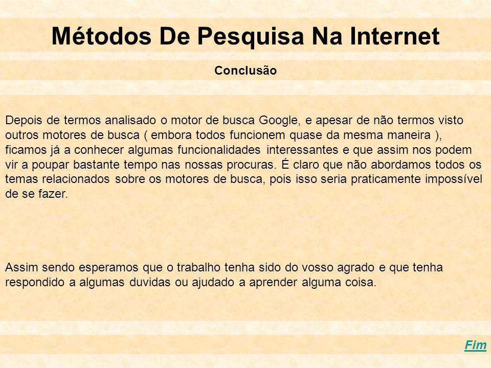 Métodos De Pesquisa Na Internet