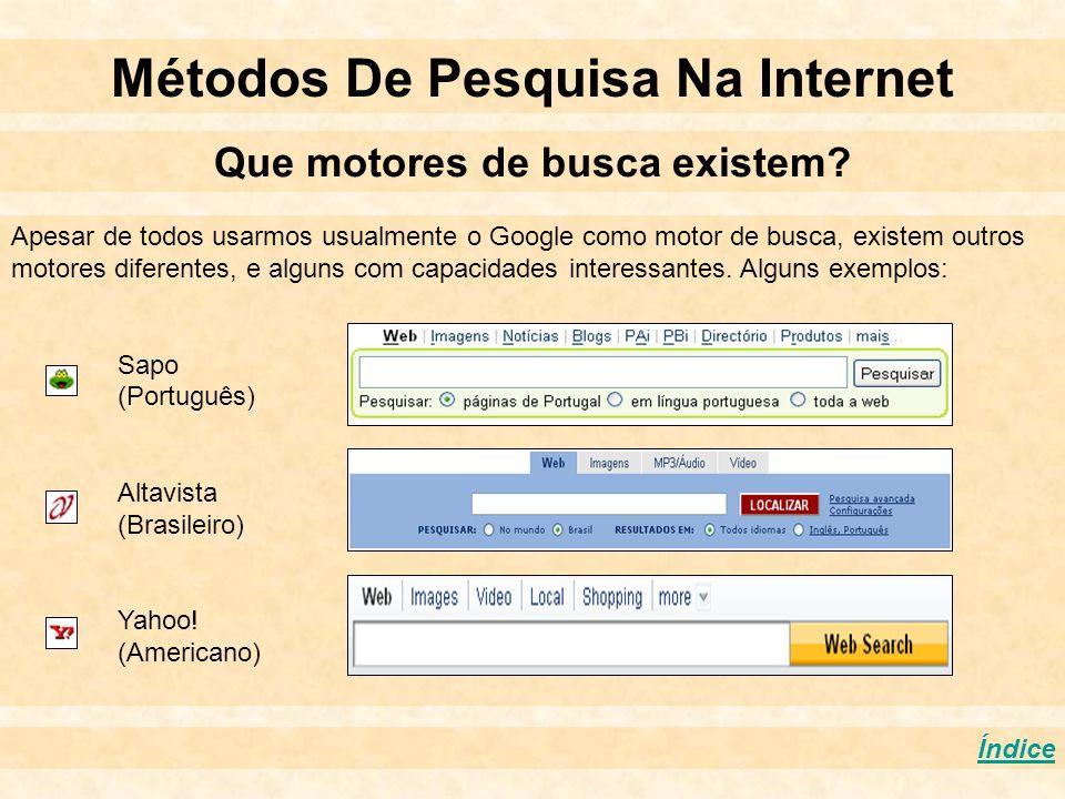 Métodos De Pesquisa Na Internet Que motores de busca existem