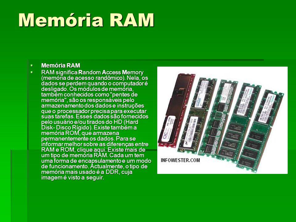 Memória RAM Memória RAM