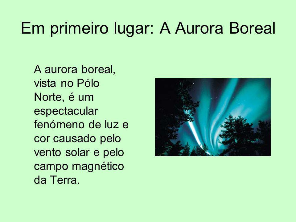Em primeiro lugar: A Aurora Boreal