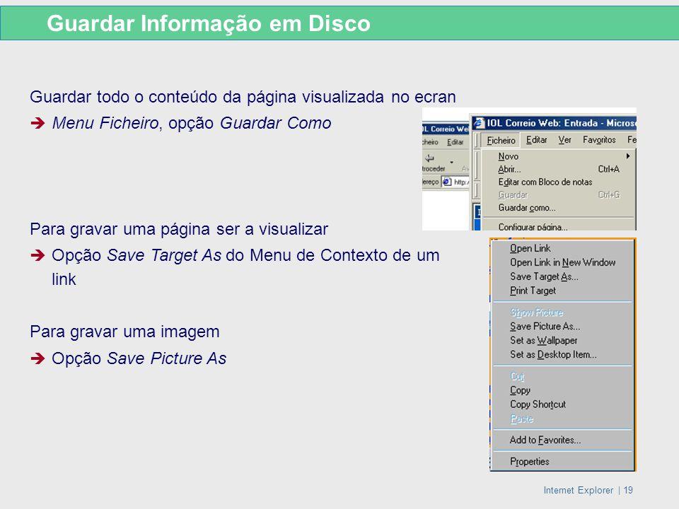 Guardar Informação em Disco