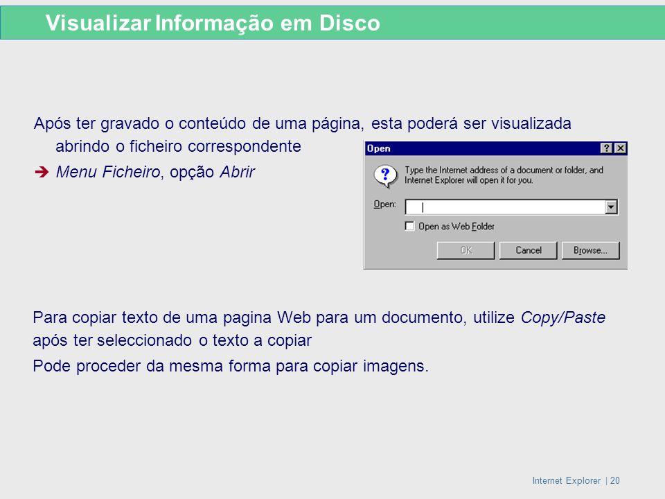 Visualizar Informação em Disco