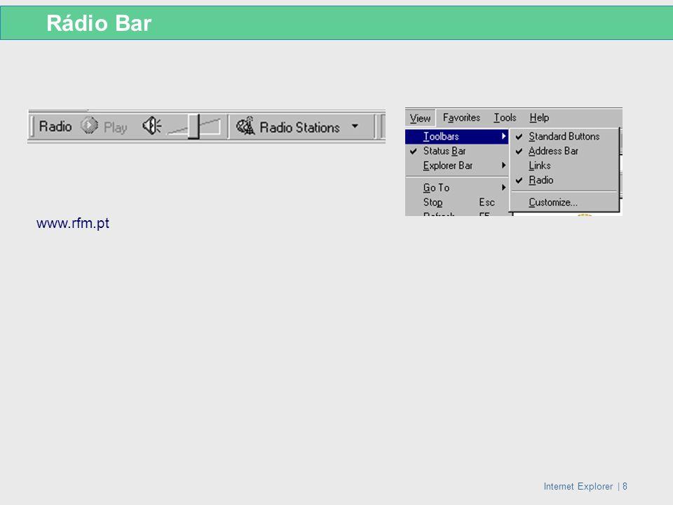 Rádio Bar www.rfm.pt