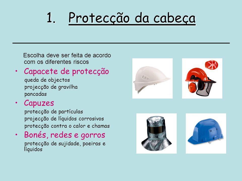 Protecção da cabeça Capacete de protecção Capuzes