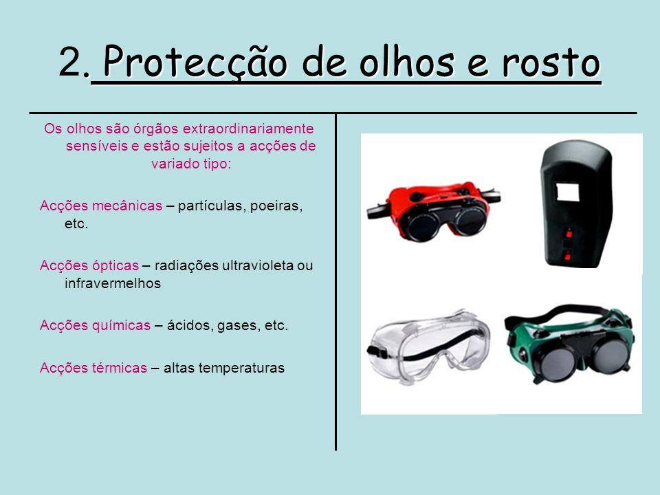 2. Protecção de olhos e rosto