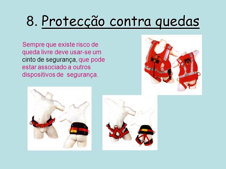 8. Protecção contra quedas