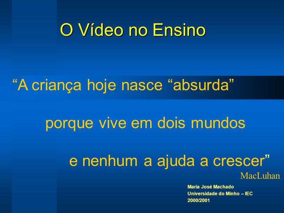 Maria José Machado Universidade do Minho – IEC 2000/2001