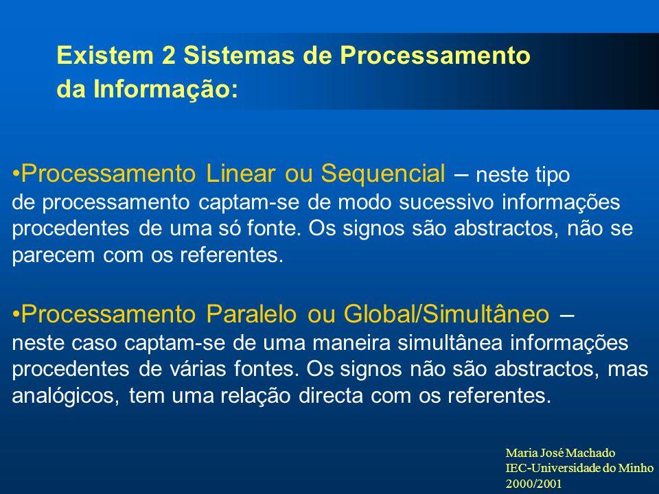 Existem 2 Sistemas de Processamento da Informação:
