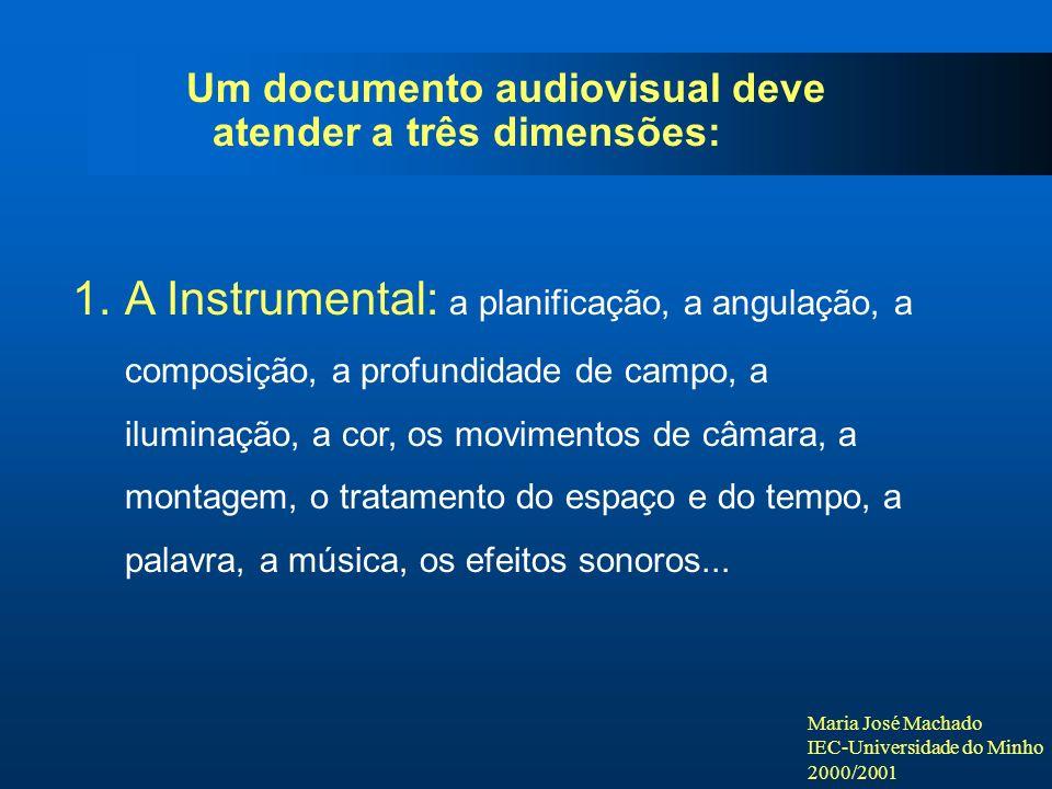 Um documento audiovisual deve atender a três dimensões: