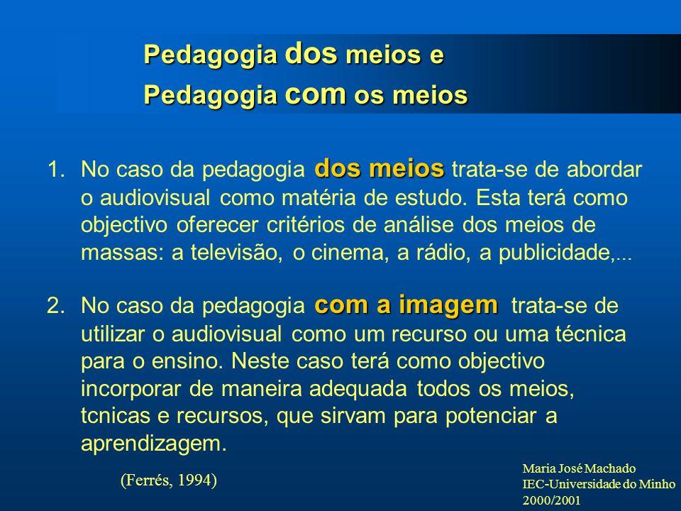 Pedagogia dos meios e Pedagogia com os meios