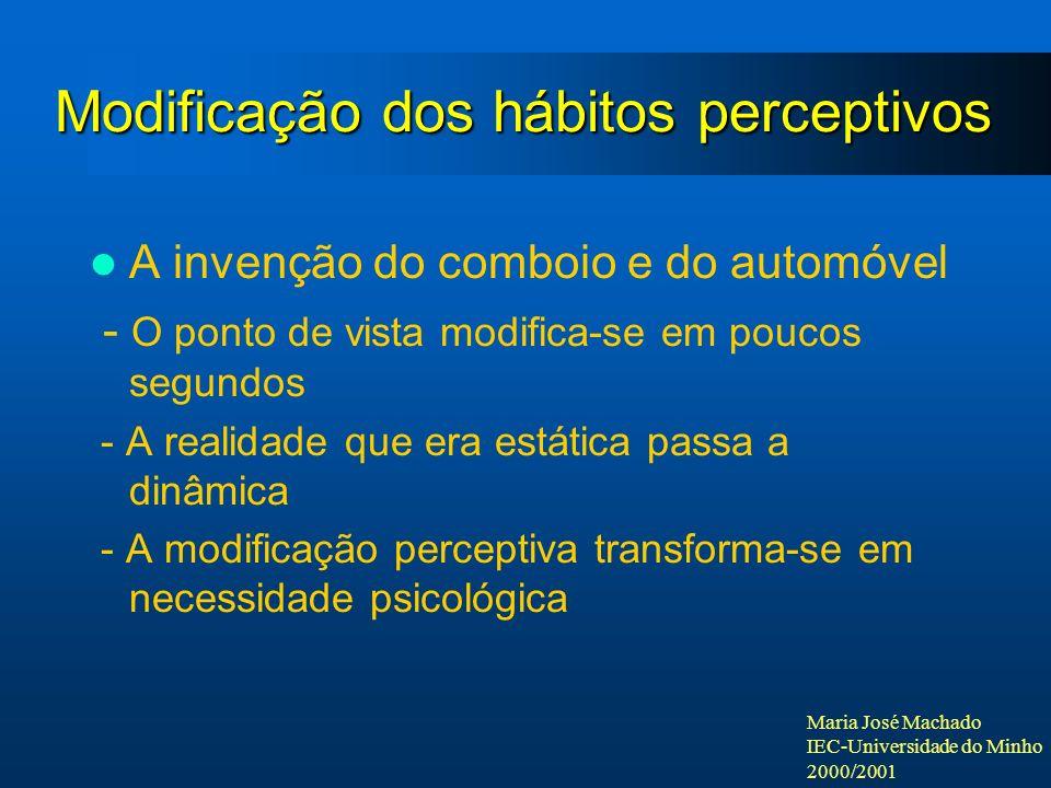 Modificação dos hábitos perceptivos
