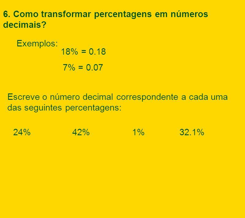 Percentages as Decimals