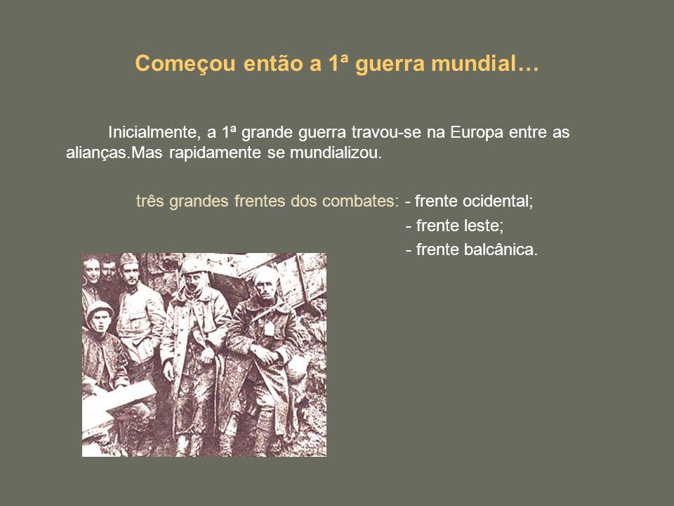 Começou então a 1ª guerra mundial…