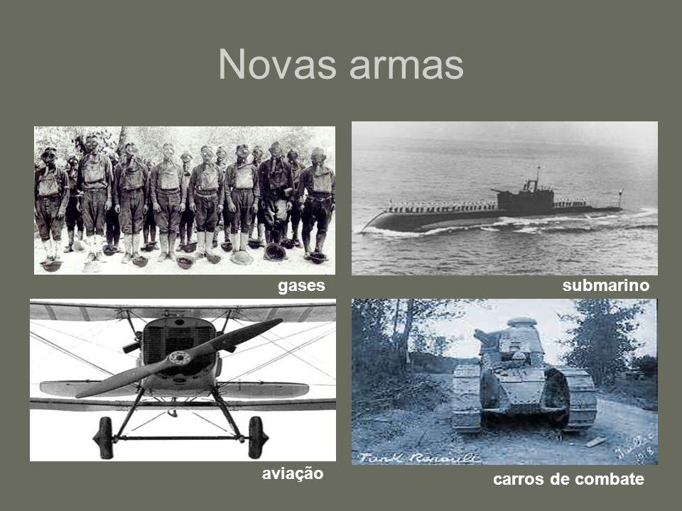 Novas armas gases submarino aviação carros de combate