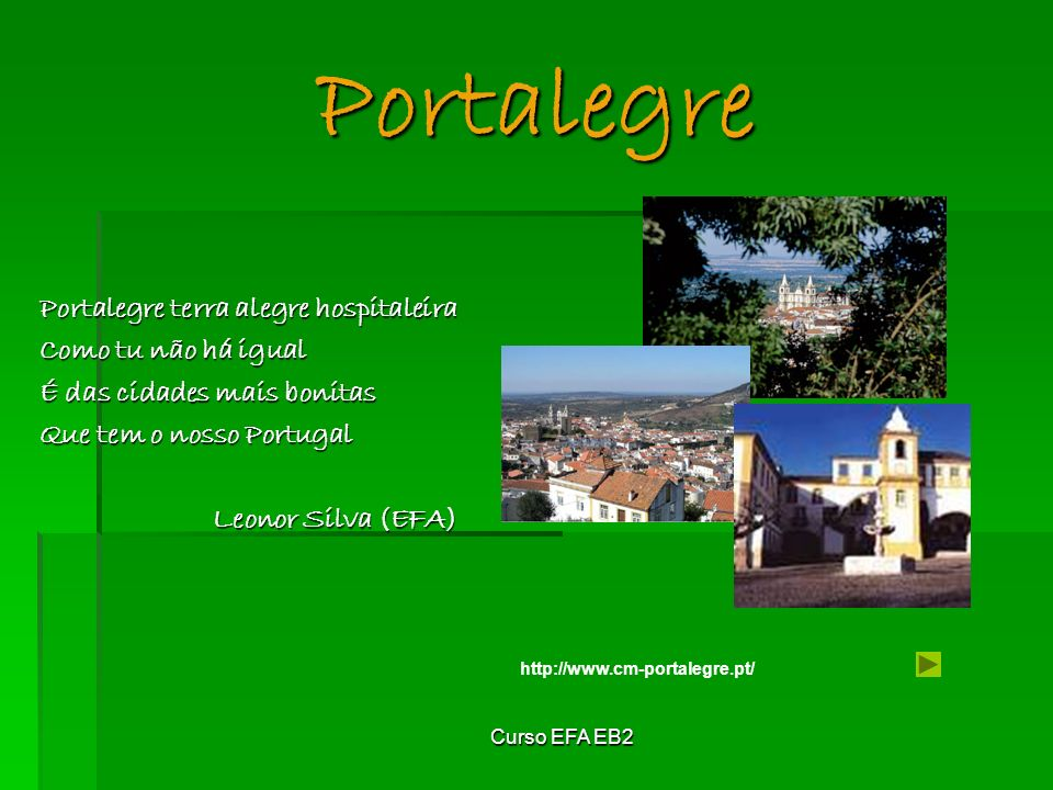 Portalegre Portalegre terra alegre hospitaleira Como tu não há igual