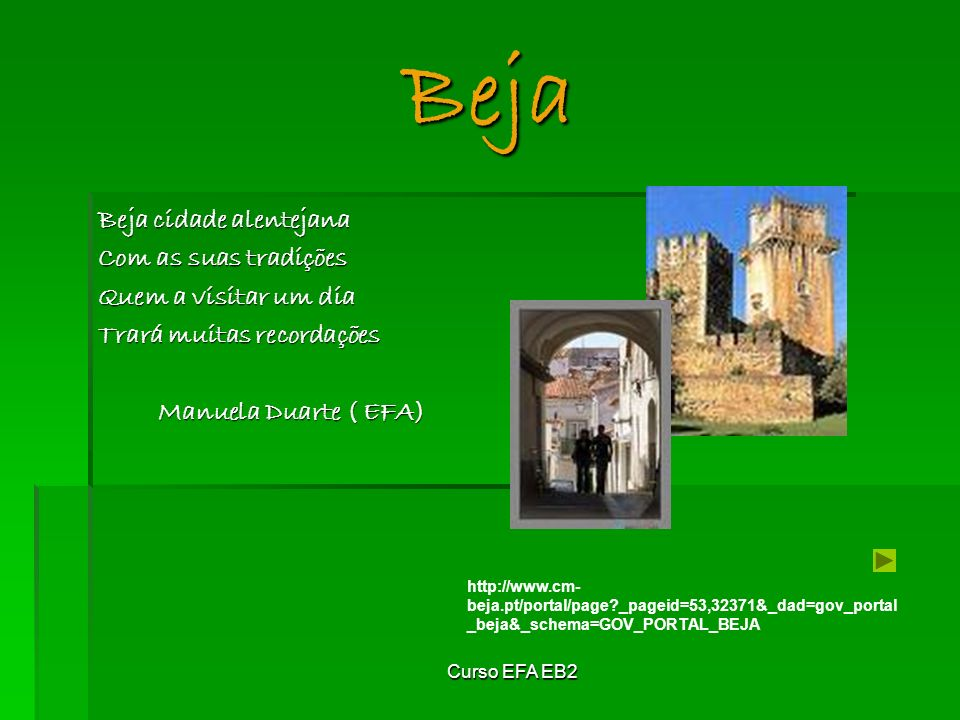 Beja Beja cidade alentejana Com as suas tradições