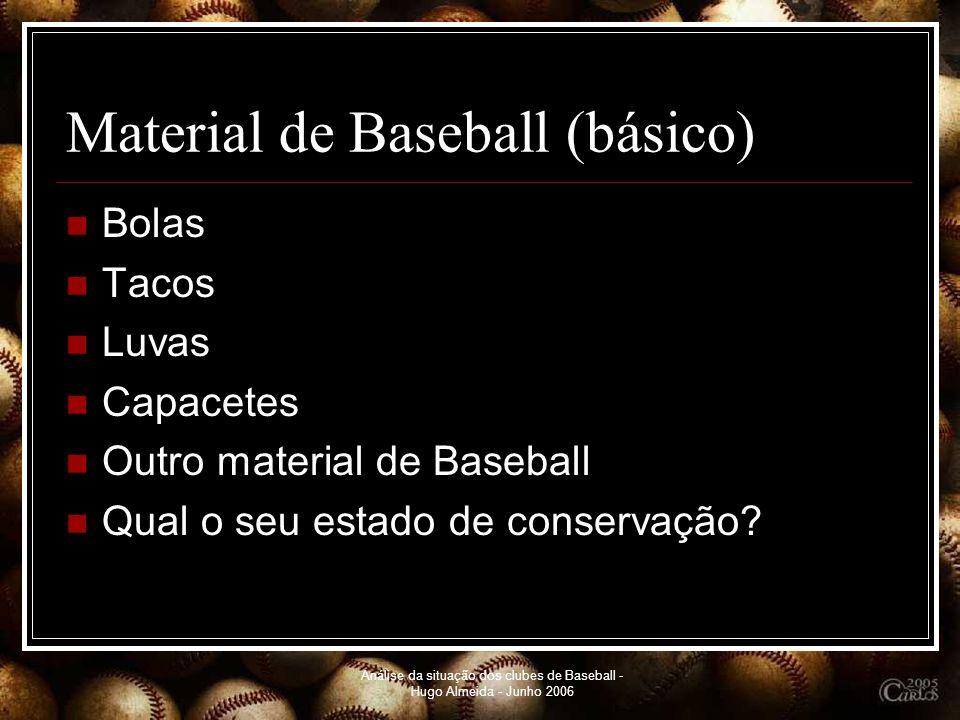 Material de Baseball (básico)