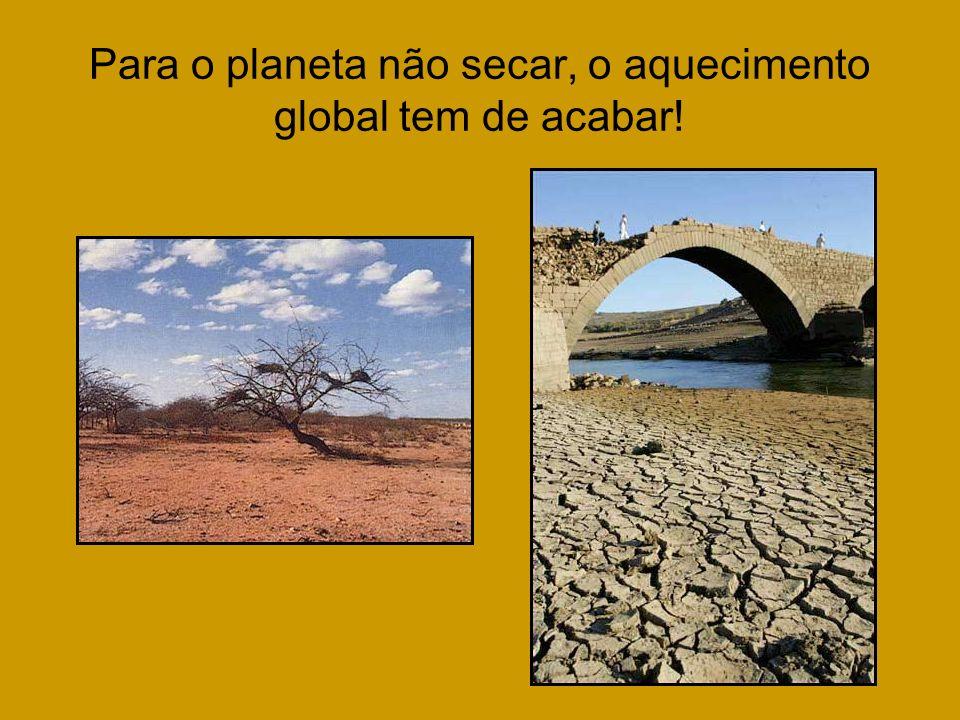 Para o planeta não secar, o aquecimento global tem de acabar!