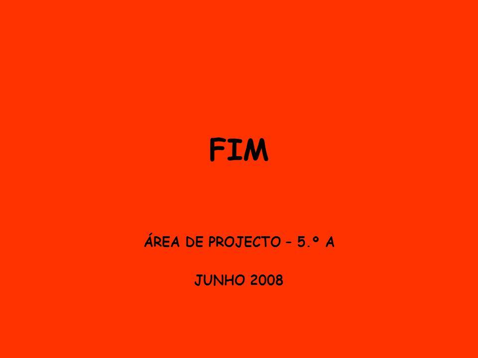ÁREA DE PROJECTO – 5.º A JUNHO 2008