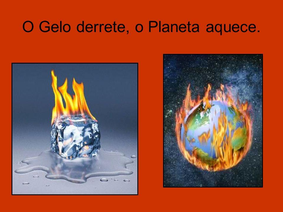O Gelo derrete, o Planeta aquece.
