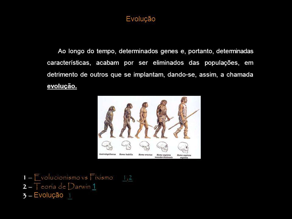 1 – Evolucionismo vs Fixismo 1,2 2 – Teoria de Darwin 1 3 – Evolução 1