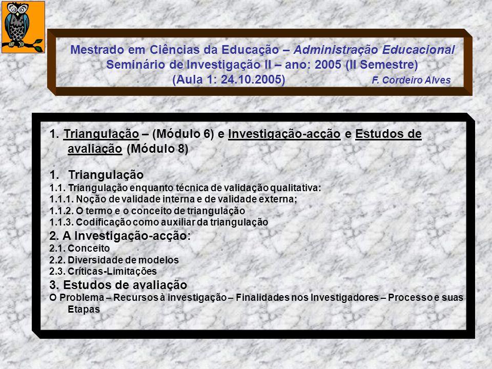 2. A Investigação-acção: