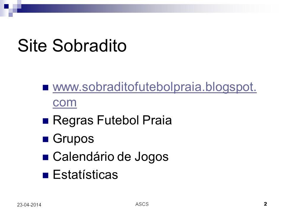 Site Sobradito www.sobraditofutebolpraia.blogspot.com