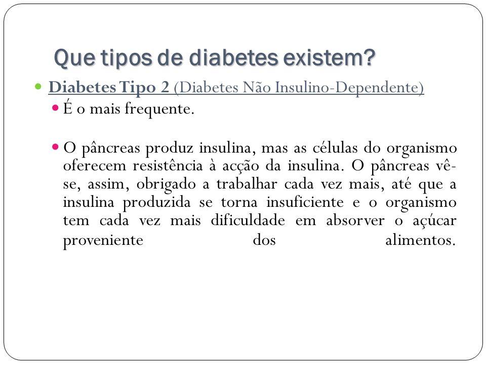 Que tipos de diabetes existem