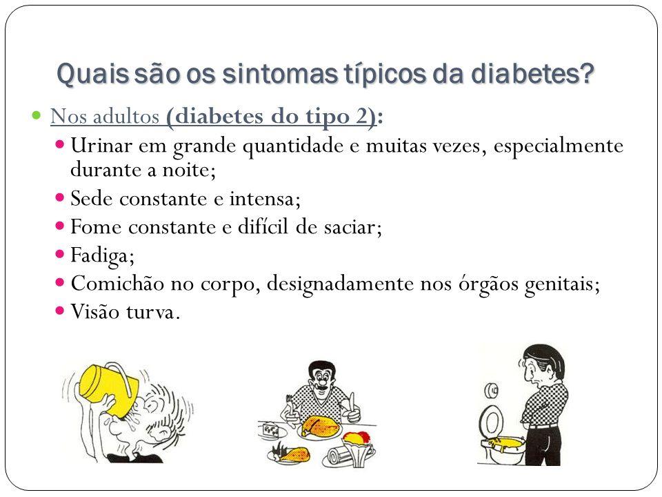 Quais são os sintomas típicos da diabetes