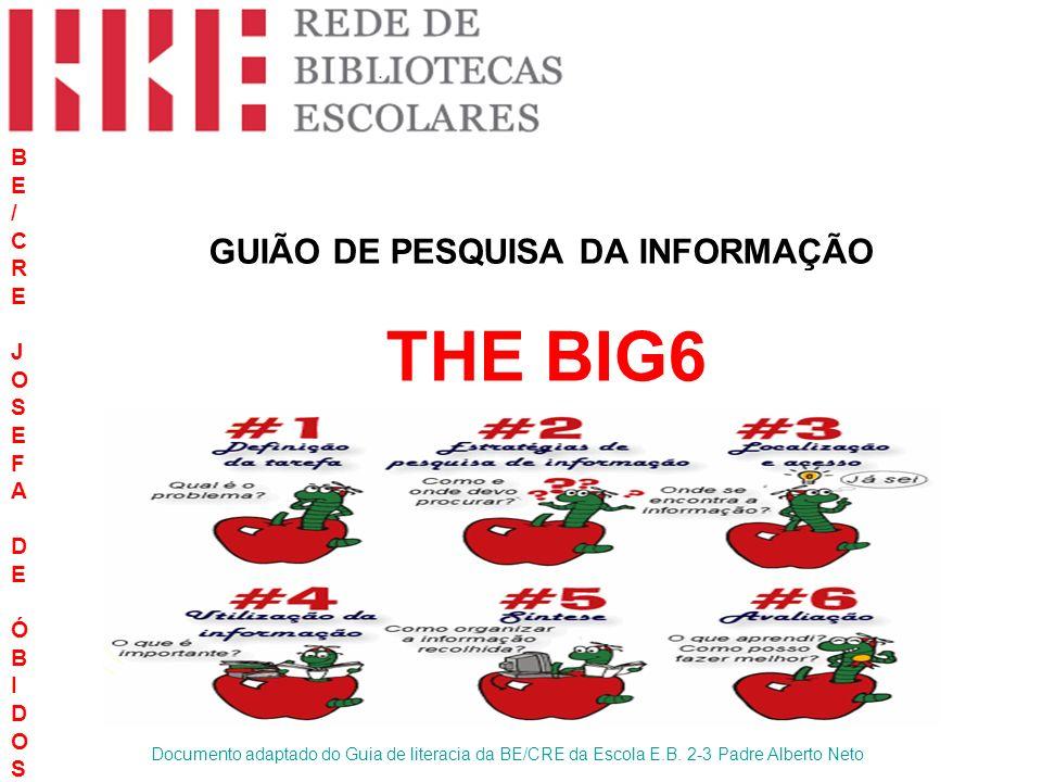 GUIÃO DE PESQUISA DA INFORMAÇÃO THE BIG6