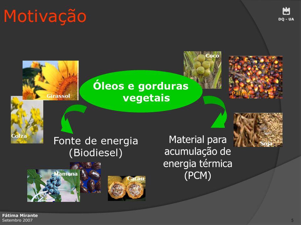 Óleos e gorduras vegetais