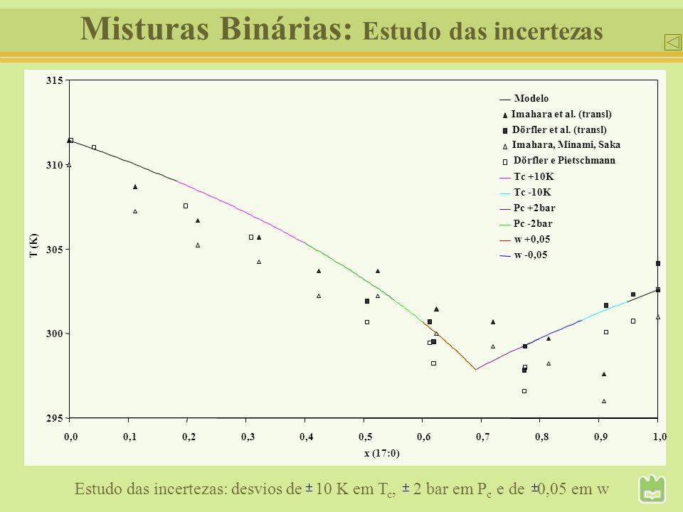 Misturas Binárias: Estudo das incertezas