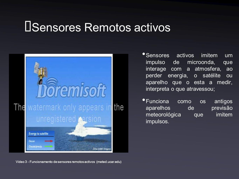 Sensores Remotos activos