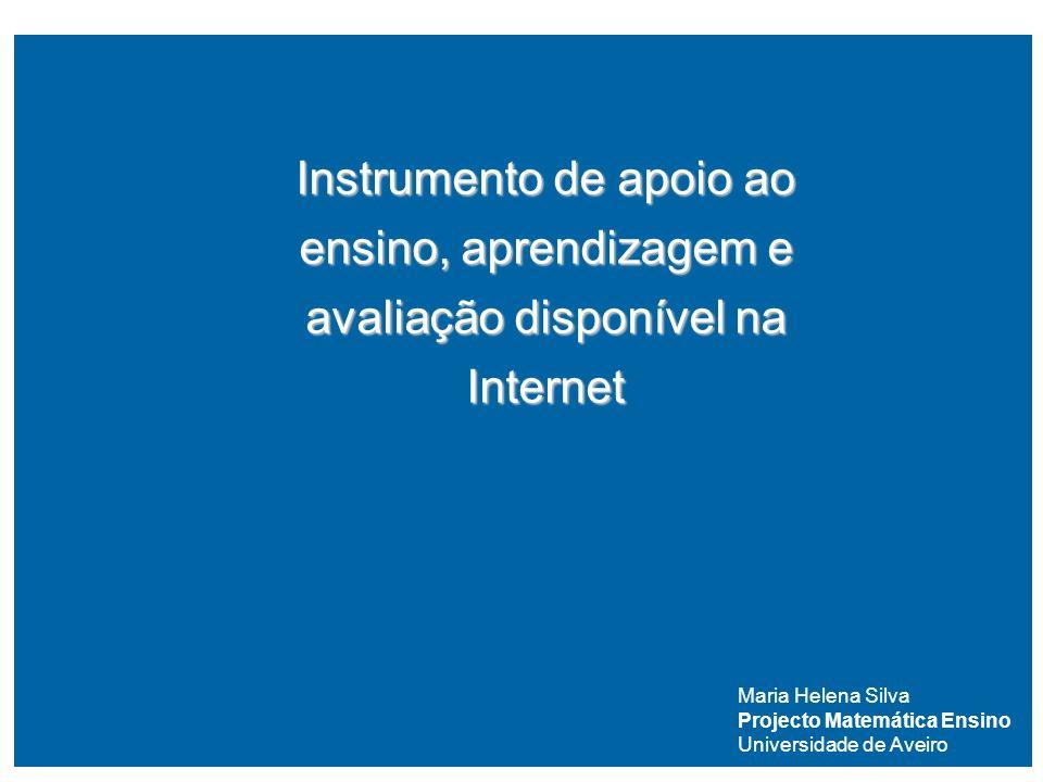 Instrumento de apoio ao ensino, aprendizagem e avaliação disponível na Internet