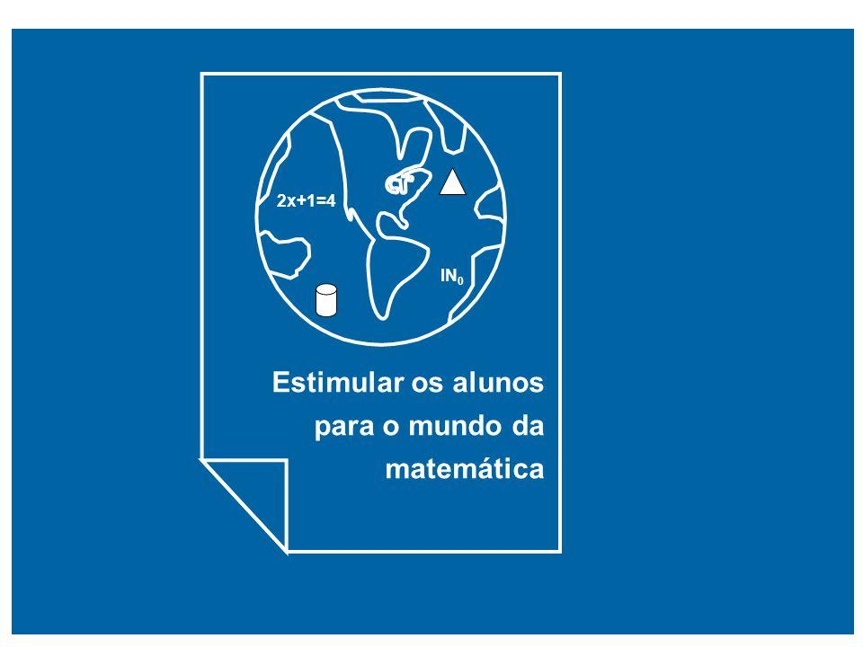 Estimular os alunos para o mundo da matemática