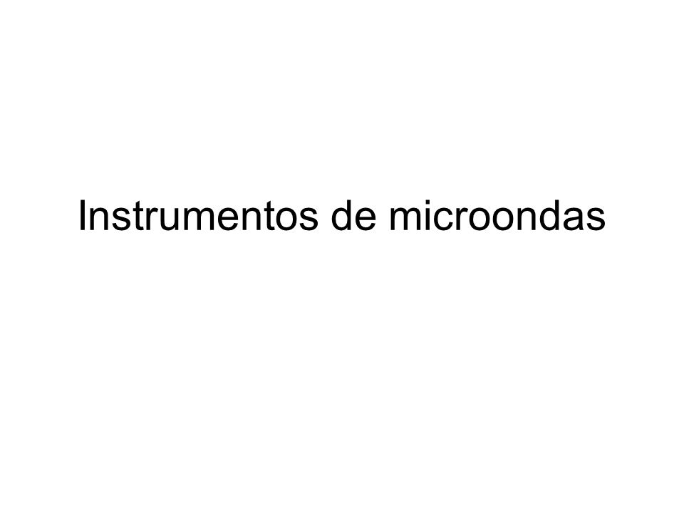 Instrumentos de microondas