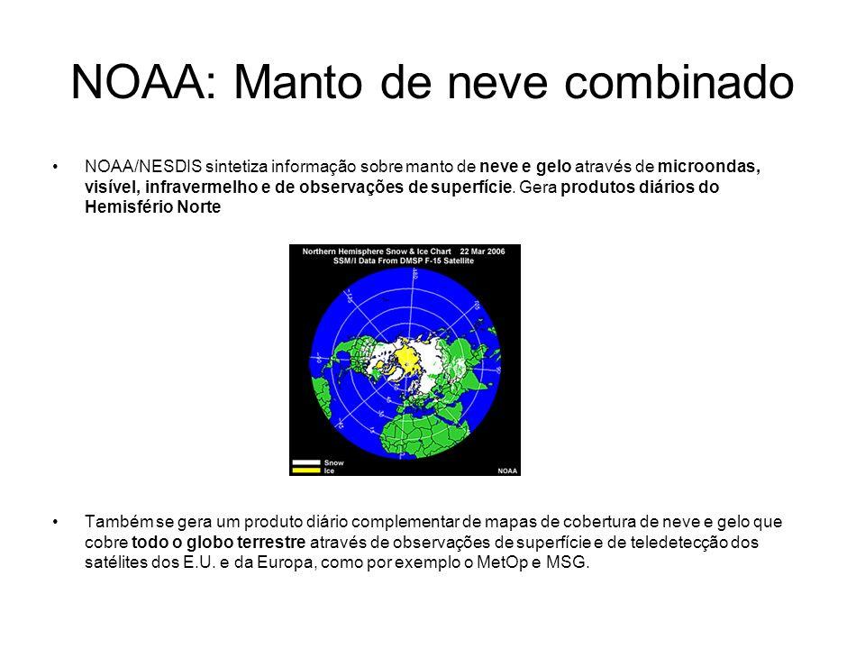 NOAA: Manto de neve combinado