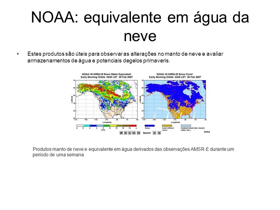NOAA: equivalente em água da neve
