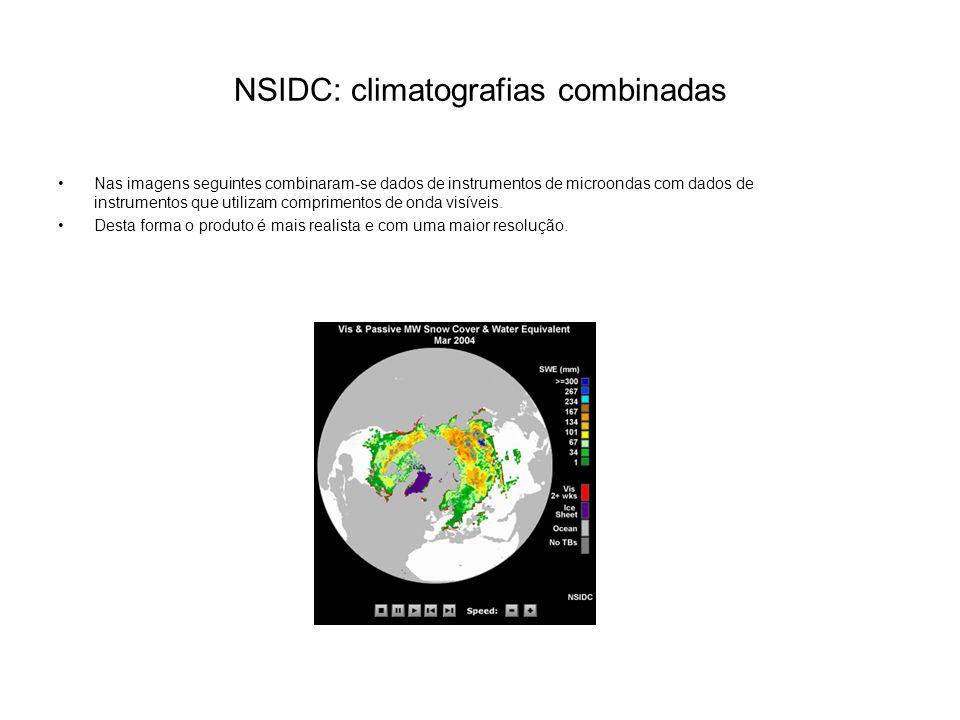 NSIDC: climatografias combinadas