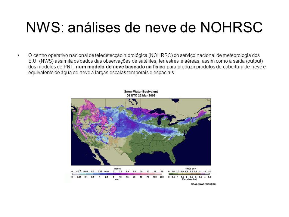 NWS: análises de neve de NOHRSC