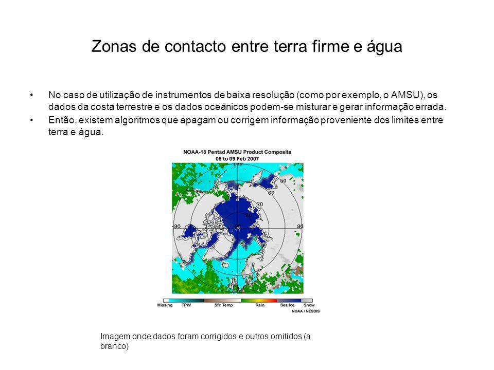 Zonas de contacto entre terra firme e água