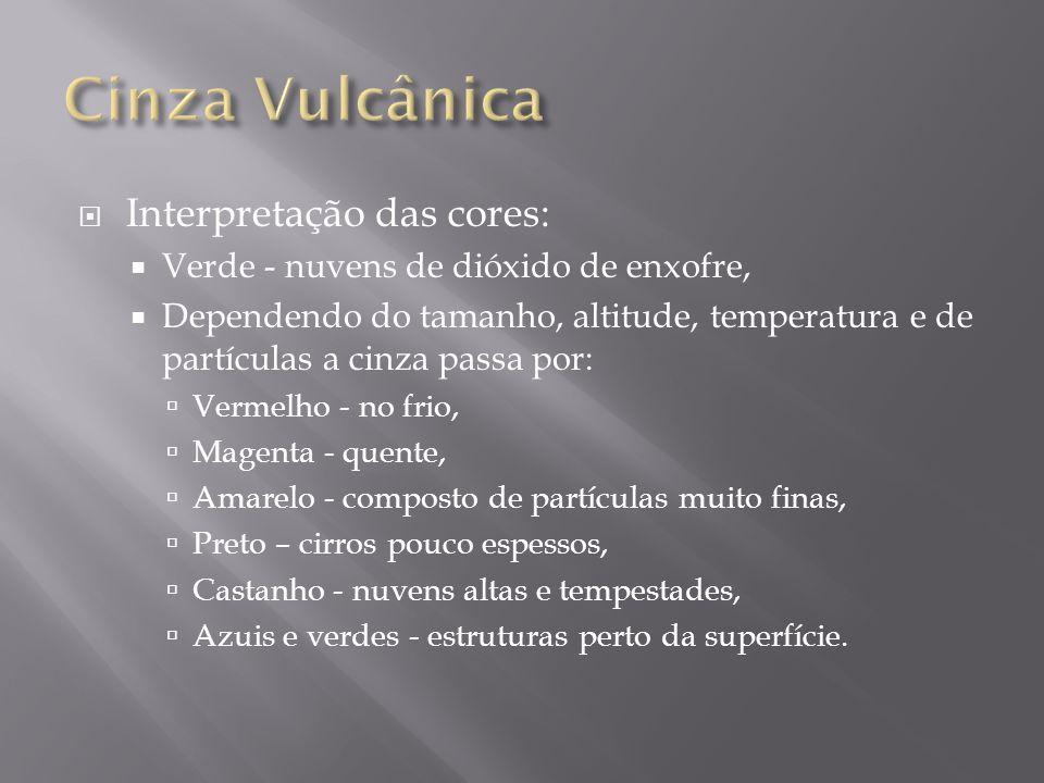Cinza Vulcânica Interpretação das cores: