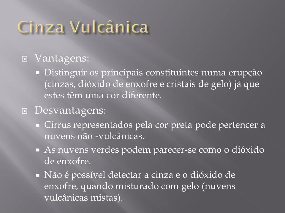 Cinza Vulcânica Vantagens: Desvantagens: