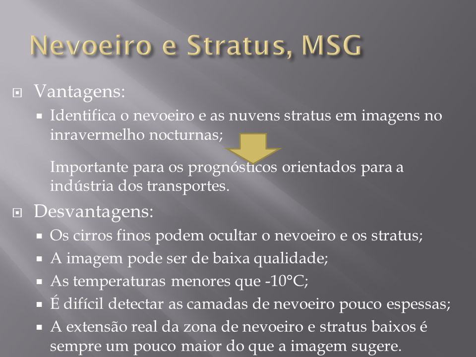 Nevoeiro e Stratus, MSG Vantagens: Desvantagens: