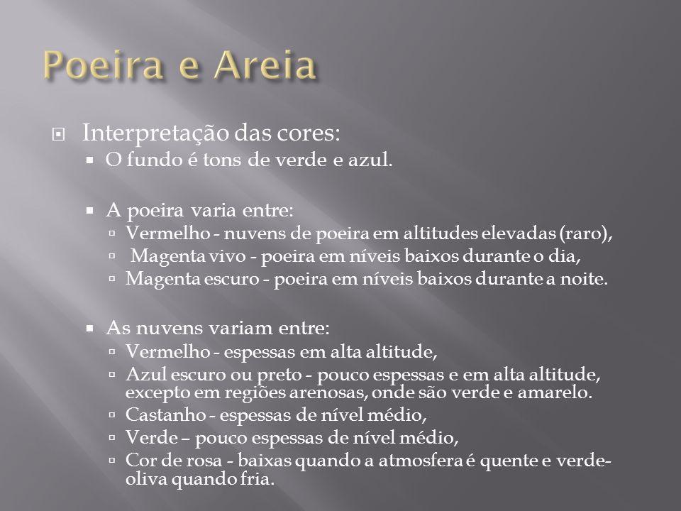 Poeira e Areia Interpretação das cores: