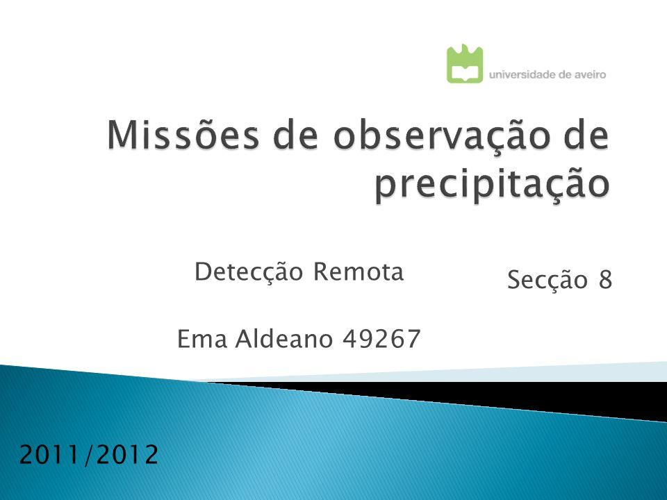 Missões de observação de precipitação