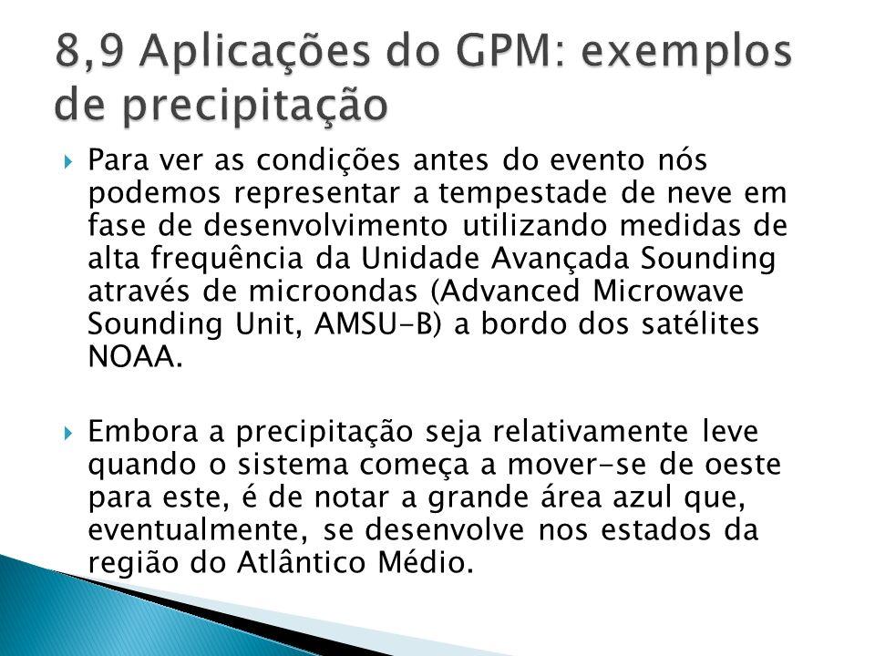 8,9 Aplicações do GPM: exemplos de precipitação