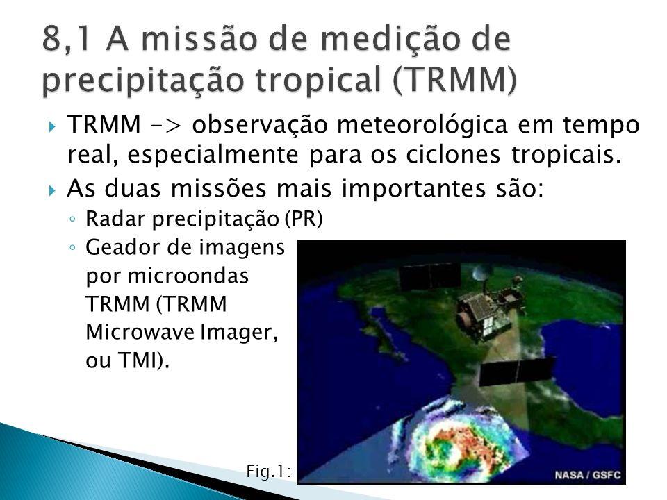 8,1 A missão de medição de precipitação tropical (TRMM)